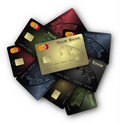 Credit card Colors collection Royalty Free Stock Images