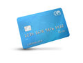 Credit card debit card or with world map on the background and corporate colours of grey and blue isolated on a white background Royalty Free Stock Image