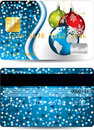 Credit card design christmas edition Royalty Free Stock Photos