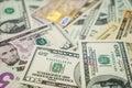 Credit card and dollars Royalty Free Stock Photo