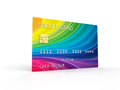 Credit card electronic debit colors cards white background Royalty Free Stock Images