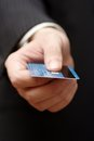 Credit card in a hand Royalty Free Stock Photo