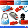 Credit card icons collection of different Royalty Free Stock Images