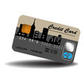 Credit card isolated with urban design banking theme Royalty Free Stock Photos