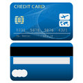 Credit card isolated on white background illustration Stock Photography