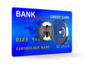 Credit card with key Stock Photography
