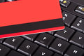 Credit Card on Keyboard Royalty Free Stock Photo