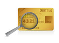 Credit card magnify glass illustration design over a white background Royalty Free Stock Photo