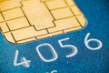 Credit card micro chip Royalty Free Stock Photo