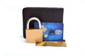 Credit card saftey and save money concept Royalty Free Stock Photography