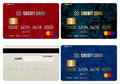 Credit card set Royalty Free Stock Photos