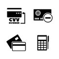 Credit Card. Simple Related Vector Icons