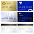 Credit card templates Royalty Free Stock Photo