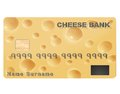 Credit card with the texture of cheese vector eps Stock Photo