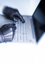 Credit card theft internet security concept image Royalty Free Stock Photo