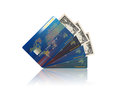 Credit card and usa dollar finance ide a design Royalty Free Stock Photos