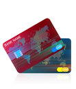 Credit card and usa dollar finance ide a design Royalty Free Stock Images