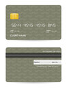 Credit card vector illustration of detailed Stock Images