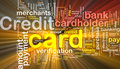 Credit card word cloud box package Royalty Free Stock Photography