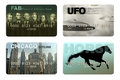 Credit cards photo illustration of four imaginary Royalty Free Stock Photo