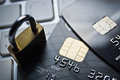 Credit cards security concept Royalty Free Stock Photo