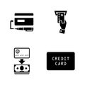 Credit Cards. Simple Related Vector Icons