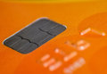Credit or debit card chip close up Royalty Free Stock Image
