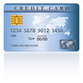 Credit or debit card design template vector illustration Stock Image
