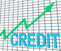 Credit graph chart shows buy increase grow debt showing Stock Images