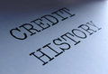 Credit history closeup on heading Royalty Free Stock Images