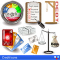 Credit icons illustration of over white background Stock Photography