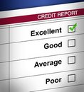 Credit report Stock Image