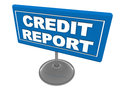 Credit report label on a clean surface concept of good or bad financial Royalty Free Stock Photo