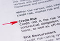 Credit risk Royalty Free Stock Photo
