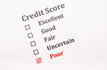Credit score form Royalty Free Stock Photo