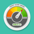 Credit score gauge Royalty Free Stock Photo