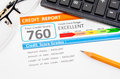 Credit score report. Royalty Free Stock Photo