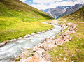 Creek european alps austria Royalty Free Stock Photos