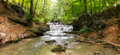Creek in the forest running through stones Royalty Free Stock Photo