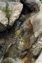 Creek through Rocks Royalty Free Stock Photography