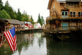 Creek street ketchikan alaska an image of tourist attraction in Stock Image