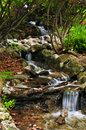 Creek with waterfalls Royalty Free Stock Photos