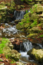 Creek with waterfalls Royalty Free Stock Images