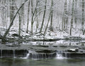 Creek In Winter, Ohio Stock Image
