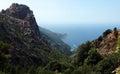 Creeks of piana in corsica island Royalty Free Stock Photos