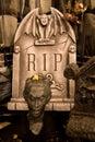 Creepy Cemetery Scene Stock Image