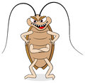 Creepy cockroach vector illustration of a Royalty Free Stock Image