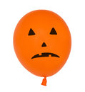 Creepy halloween pumpkin balloon Royalty Free Stock Photo