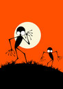 Creepy Monster Silhouettes Stock Photography