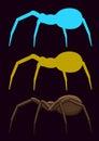 Creepy Spiders Royalty Free Stock Photo